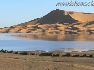 Charming sand-dunes of Morocco
